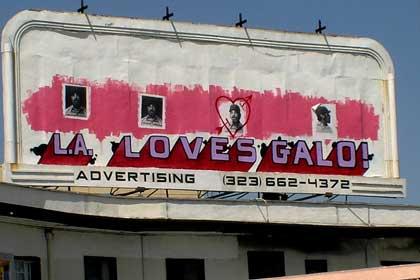 billboard graffiti by galo