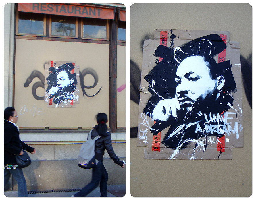 Martin luther king in the street by dan23