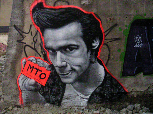 Jim Carrey MTO graffiti a berlin