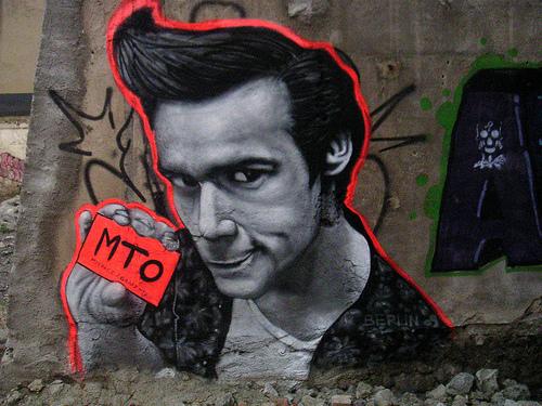 Jim Carrey MTO graffiti a berlin