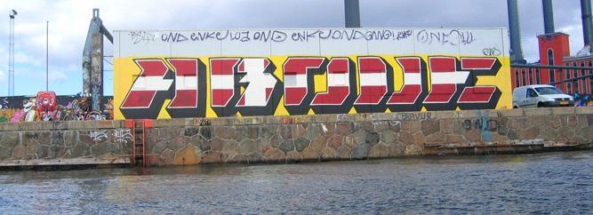 Above in denmark graffiti